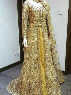 golden pakistani dress, golden dress pakistani, golden colour pakistani dresses, pakistani bridal dresses in golden colour, black and golden pakistani dresses